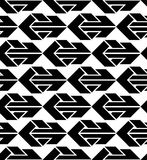 Seamless pattern with arrows, black and white infinite geometric Stock Photos