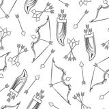 Seamless pattern with arrows and bow royalty free illustration