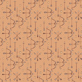 Seamless pattern with arrows, bows and heart Royalty Free Stock Image