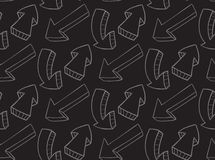 Seamless pattern with arrows of chalk Stock Photo