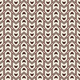Seamless pattern with arrows motif. Repeated mini angle brackets. Chevrons wallpaper. Minimalist abstract background. stock illustration