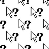 Seamless pattern of arrows and question marks Stock Image