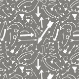 Seamless pattern with arrows Royalty Free Stock Photo