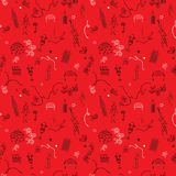 Seamless pattern art deco style Stock Images