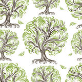Seamless pattern with art trees for your design Royalty Free Stock Photo