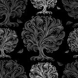 Seamless pattern with art trees for your design Royalty Free Stock Images