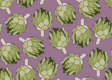 Seamless pattern with the artichoke symbol. Seamless pattern with the artichoke symbol, can be used as background, fabric print, texture, wrapping paper, web Stock Photography