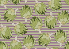Seamless pattern with the artichoke symbol. Seamless pattern with the artichoke symbol, can be used as background, fabric print, texture, wrapping paper, web Stock Photo