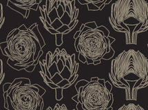Seamless pattern with the artichoke symbol. Seamless pattern with the artichoke symbol, can be used as background, fabric print, texture, wrapping paper, web Royalty Free Stock Image