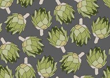 Seamless pattern with the artichoke symbol. Seamless pattern with the artichoke symbol, can be used as background, fabric print, texture, wrapping paper, web Royalty Free Stock Photography