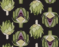 Seamless pattern with the artichoke symbol. Seamless pattern with the artichoke symbol, can be used as background, fabric print, texture, wrapping paper, web Royalty Free Stock Photo