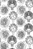 Seamless pattern with the artichoke symbol. Seamless pattern with the artichoke symbol, can be used as background, fabric print, texture, wrapping paper, web Stock Photos
