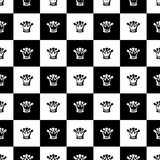 Seamless pattern as Chess board. vector. Black and white seamless pattern as Chess board. vector Royalty Free Stock Photos