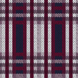 Seamless pattern as a knitted fabric in contrast colors Royalty Free Stock Image
