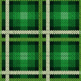 Seamless pattern as a knitted fabric in green and white Royalty Free Stock Photography