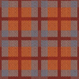 Seamless pattern as a knitted fabric mainly in brown hues Royalty Free Stock Photos