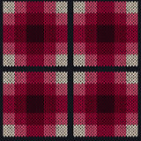 Seamless pattern as a knitted fabric in pink and grey colors. Seamless vector pattern as a woollen Celtic tartan plaid or a knitted fabric texture in pink, red Stock Photography