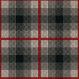 Seamless pattern as a knitted fabric in red and grey colors Stock Image