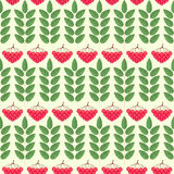Seamless pattern with ashberry. vector. Illustration Stock Images
