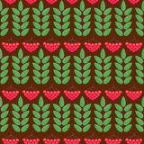 Seamless pattern with ashberry. vector. Illustration Stock Photography