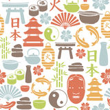 Asian pattern. Seamless pattern with asian icons Royalty Free Stock Photography