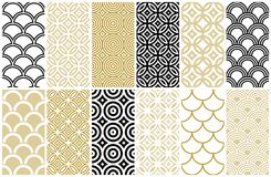 Seamless pattern in Asian and Moroccan style Stock Image