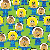 Seamless pattern astronauts boys and girls Stock Photos