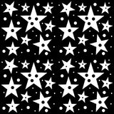Seamless pattern Astroniras with a five-pointed stars in a black - white colors. Digital computer graphic - seamless pattern Astroniras with a five-pointed stars royalty free illustration