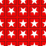 Seamless Pattern Astroniras with a white five-pointed stars on a red background. Digital computer graphic - seamless Pattern Astroniras with a white five-pointed stock illustration