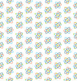 Seamless Pattern of Atomic Symbols for Science Stock Photos