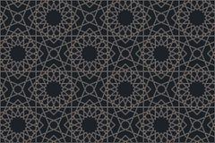Seamless pattern in authentic arabian illustration style vector illustration