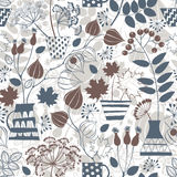 Seamless pattern with autumn bouquets. Royalty Free Stock Photography