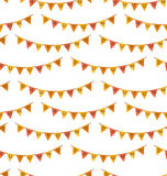 Seamless Pattern with Autumn Bright Buntings Royalty Free Stock Photos