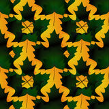 Seamless pattern in autumn colors made of maple leaves, dark gre Royalty Free Stock Photos
