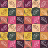 Seamless pattern of autumn colors, veins on the leaves. Royalty Free Stock Photos