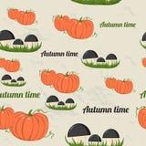 Seamless pattern with autumn elements. Stock Photos