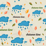 Seamless pattern with autumn elements. Royalty Free Stock Image