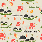 Seamless pattern with autumn elements. Stock Image