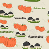 Seamless pattern with autumn elements. Royalty Free Stock Images
