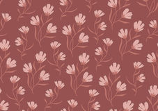 Seamless pattern autumn flowers colored in modern Stock Image