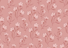 Seamless pattern autumn flowers colored in modern Royalty Free Stock Image