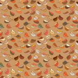 Seamless pattern with autumn foliage. Seamless pattern with continuous different shades of autumn foliage Vector Illustration