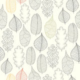 Seamless pattern with autumn leaf background. Stock Images