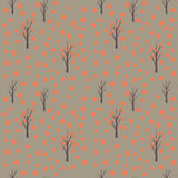 Seamless pattern with autumn leafs and trees. Seamless pattern with autumn leafs and trees Royalty Free Stock Images