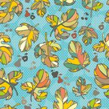 Seamless pattern of autumn leaves. Stock Photos