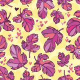 Seamless pattern of autumn leaves. Royalty Free Stock Images