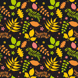 Seamless pattern with autumn leaves Royalty Free Stock Images
