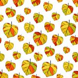 Seamless pattern with autumn leaves. Autumn leaf fall. Patterns for textiles and packaging Royalty Free Stock Photography