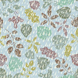Seamless pattern.Autumn leaves and berryes. Royalty Free Stock Photos