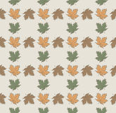 Seamless pattern with autumn leaves Stock Image